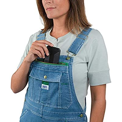 Liberty Women's Washed Denim Bib Overalls: Clothing