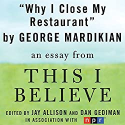 Why I Close My Restaurant