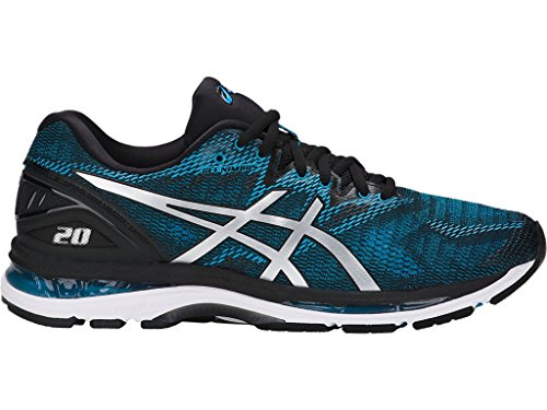 ASICS Men s Gel-Nimbus 20 Running Shoe, Island Blue/White/Black, 10 Medium US