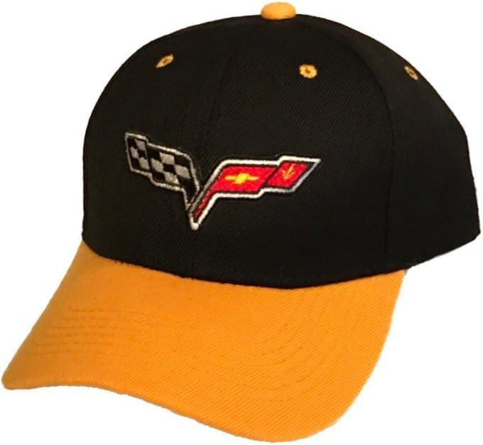 Yoursport Baseball Cap,Unisex Adjustable Hat Travel Cap for Man,Women Black Fit Corvette Accessories