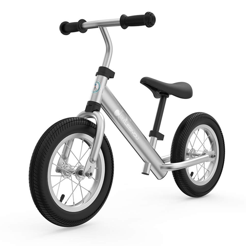幼児のための低いフレームとの調節可能なバランスのバイク 1.5-5 歳、子供のための空気なしのタイヤが付いている訓練のバイク、12インチの子供のバイクの調節可能なハンドルバーおよび座席  E B07PCJSR8D