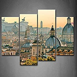 First Wall Art - Noble Buildings In Rome Wall Art Painting Pictures Print On Canvas City The Picture For Home Modern Decoration