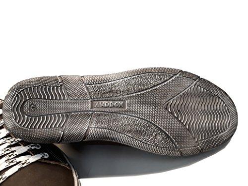 mit Aus Leder Trachten Sneaker Sohle Used Herren High Maddox top Look Braun wXAw7x4tq