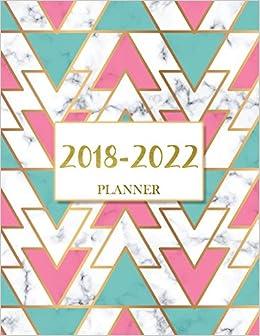 2018-2022 Planner: 60 Months Calendar, Monthly Schedule ...