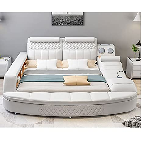 Amazon.com: 0609tb25 suave sofá cama de piel de muebles de ...