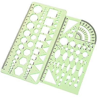 2pcs-plastic-green-measuring-templates