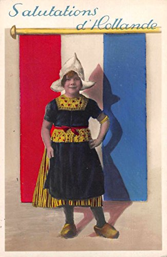 Holland Netherlands Greetings Dutch Girl Tinted Real Photo Postcard ()