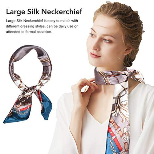 VBIGER Seidentuch Halstuch Damen Groß 90 x 90 cm Satin Bandana Kopftuch Elegante Schal Bunte Seidenschal
