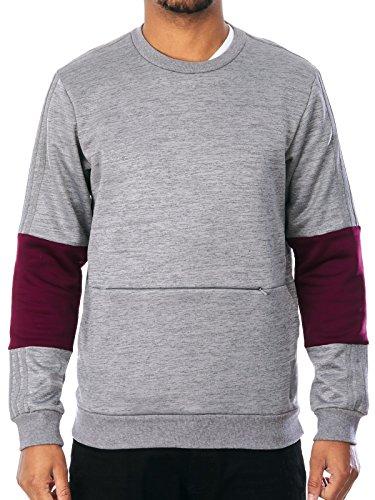 Adidas Pullover Crewneck Heavyweight Core Grau-Maroon