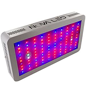 NOVA N300 LED Grow Light Panel for Indoor Plants - 300W 12 Band Full Spectrum Lamp for Indoor Growing - Consumes Less Heat & Less Energy - 5 Year Warranty - US Company