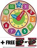 Shape Sorting Clock + FREE Melissa & Doug Scratch Art Mini-Pad Bundle [85939]