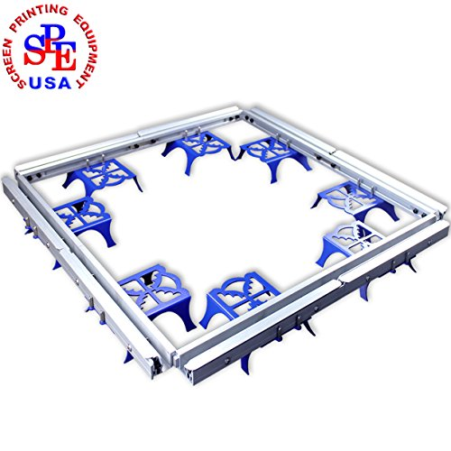 Combined Stretcher Screen Printing Plate Making Tool Equipment for Silk Screen Printing(8 Sets Stretch Within 60×60cm Frame) by Screen Printing  Auxiliary Equipment