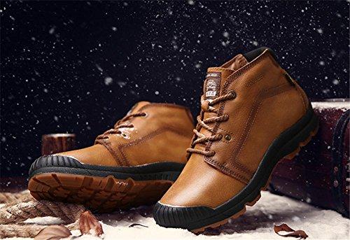Marrone All'aperto Stivali 41 Confortevole Tooling Caviglia Pelle Tempo Inverno Uomini balestruccio libero Antiscivolo Autunno 42 Scarpe BROWN Nero XIE Pizzo Alpinismo 1wXxqZR7t7