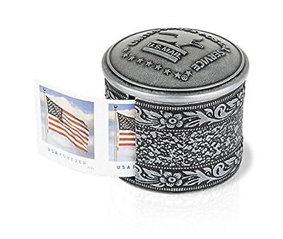 Floral Metal Stamp Coil Dispenser/Stamp holder