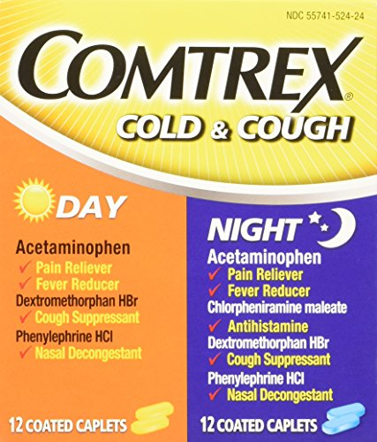 Comtrex Day & Night Cold and Cough Coated Caplets, 24 Count