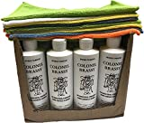 Colonel Brassy metal chrome aluminum plastic cleaner wholesale case 12-pack with 12-pack microfiber polishing cloth