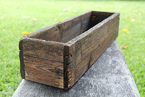 24'' Rustic Planters Box (3.25-3.75''T - Short Version) by Red Oak Road