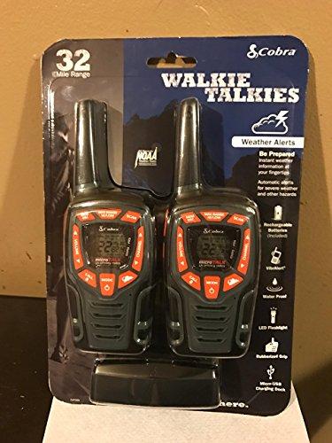 Cobra ACXT565 Walkie Talkies 28-Mile Two-Way Radios, Rechargeable (Pair) by Cobra (Image #1)