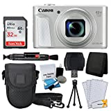 Canon PowerShot SX730 HS Digital Camera (Silver) + 32GB Memory Card + Deluxe