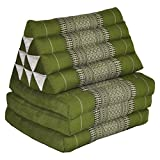 Thai mattress 3 folds with triangle cushion, green, relaxation, beach, pool, meditation garden (81803)