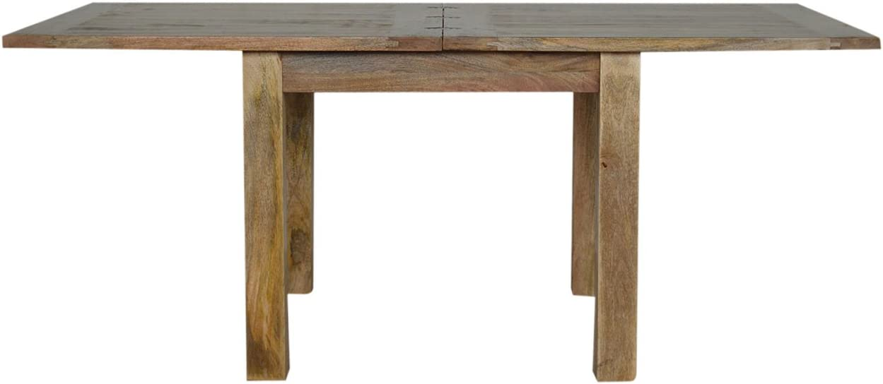 Wood Artisan Furniture Extendable Butterfly Dining Table with Straight Legs Natural Oak Finish