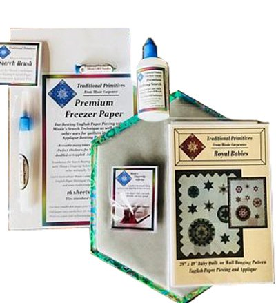 Starch Basting English Paper Piecing Starter Kit by Traditional - Piecing Kit Paper