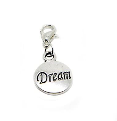 jewelleryjoy Dream Gift Dangle Bead for Silver European Charm Bracelets  Clip On Charm Chain Link Bracelet Meaning Charms