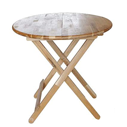 Jiuerdp Solid Wood Small Round Table Folding Elm All Solid