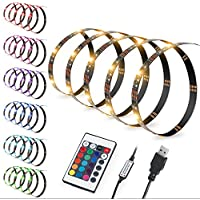 "80"" LED Strips Bias Lighting TV Backlight RGB Lights with Remote Control for HDTV, Flat Screen TV Accessories and Desktop PC, Multi Color"