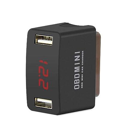 Nishci ODB Mini Cargador de Coche, Adaptador USB Dual de 12V ...