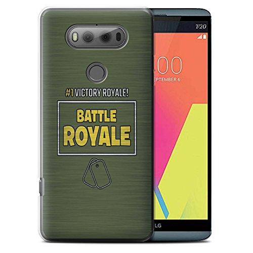 STUFF4 Phone Case/Cover for LG V20 F800/H990/VS995 / Victory Royale #1 Design/FN Battle Royale Collection