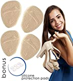 2 Pairs of Metatarsal Pads for Woman + 6 Adhesive Soft Gel High Heel Pads Ball of Foot Cushions Pain Relief Inserts Mortons Neuroma Prevent Callus and Blisters Insoles Shoe Foot Support Anti Slip