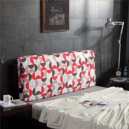 YXCSELL Headboard 180cm Color Windmill Printing Canvas Triangular Cushion Filled Soft Wedge Cushion...