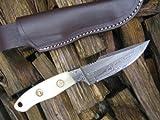 Massive Sale! Stunning Custom Made Damascus Knife – Mammoth Bone