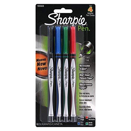 Sharpie Plastic Point Pen, 0.8mm, Fine Point, Assorted Colors, 12 Count by Sharpie (Image #1)