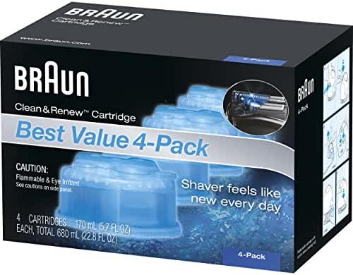 Braun Clean & Renew Frustration Free Refill Cartridges CCR 4  Refills