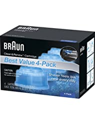 Braun Clean & Renew Refill Cartridges CCR ,4 Count
