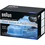 Braun Series 7 Cleaning Base - Braun Clean & Renew Refill Cartridges CCR - 4 Count