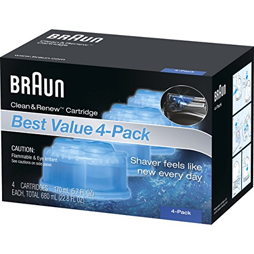 Braun Clean & Renew Frustration Free Refill Cartridges CCR 4 (Braun Shaver Clean And Renew)