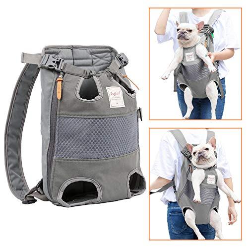🥇 PETTOM – Mochila transpirable con cremallera lateral para mascotas