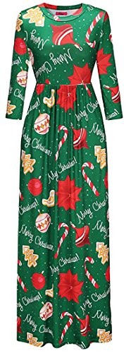 Jaycargogo Femmes Halloween Col Rond Manches Longues Haute Maxi Robe Taille 10