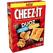 Cheez-It DuozBaked Snack Cheese Crackers and Popcorn, Caramel Popcorn and Cheddar, 8.7 oz