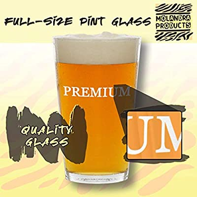 #kincaid - Glass Hashtag 16oz Beer Pint