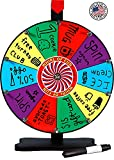 Whirl of Fun Prize Wheel 12 Inch Tabletop-10 Color