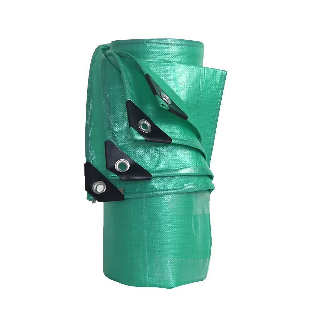タープ ポリ塩化ビニール防水タパリン0.3ミリメートルの厚さ - プレミアム品質のカバー180グラム/平方メートルのターポリン (色 : Green, サイズ さいず : 5MX7M) 5MX7M Green B07JNKLKP6