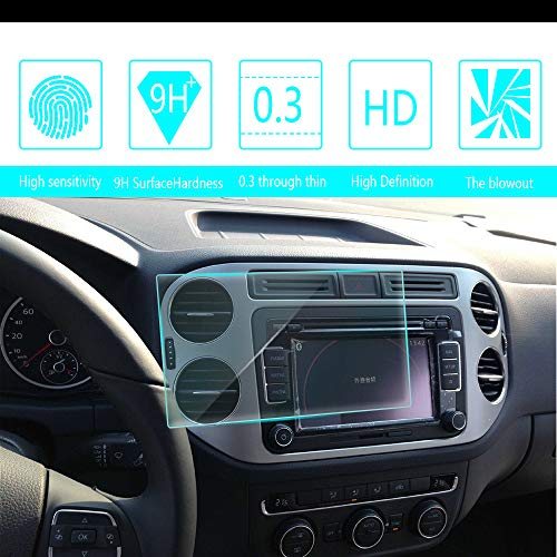 - For 2009 2010 2011 2012 2013 2014 2015 VW Tiguan 6.5-Inch 141x77mm Car Navigation Screen Protector HD Clarity 9H Tempered Glass Anti-Scratch, In-Dash Media Touch Screen GPS Display Protective Film