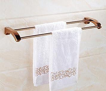 KIEYY Toallas De Baño Toallas De Baño Rosa De Oro-Cobre Racks Baño Baño Adornos De Hardware Con Doble Barra, 2048M: Amazon.es: Bricolaje y herramientas
