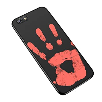 buy popular 3b564 2764a New Heat Sensitive Phone Case for iPhone 6/ 6s/ 6 Plus/ 6s Plus/ 7/ 7 Plus  Thermal Sensor Phone Cover PU Hot Soft Case Color Changed with Temperature  ...