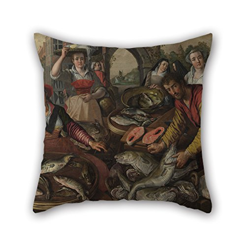 Artistdecor Oil Painting Joachim Beuckelaer - The Four Elements- Water Pillow Covers ,best For Drawing Room,boys,play Room,father,club,couch 16 X 16 Inches / 40 By 40 Cm(two