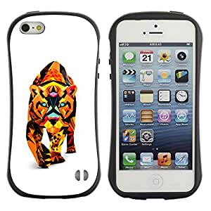 "Hypernova Slim Fit Dual Barniz Protector Caso Case Funda Para Apple iPhone SE / iPhone 5 / iPhone 5S [Polígono Triángulo colorido Cat Puma Puma León""]"
